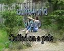 Cuffed to a pole